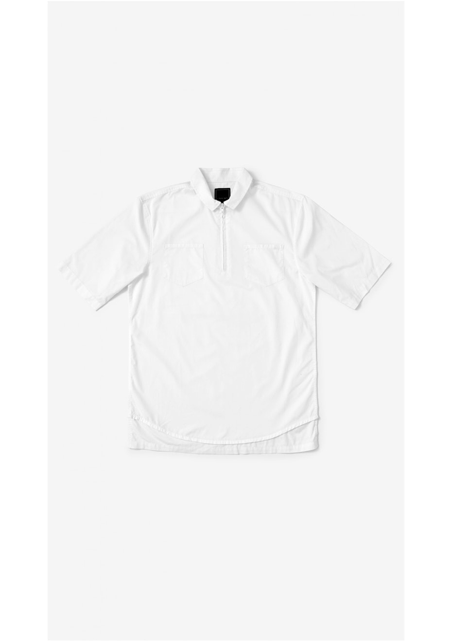 I Love Ugly - SS Zip Shirt - White
