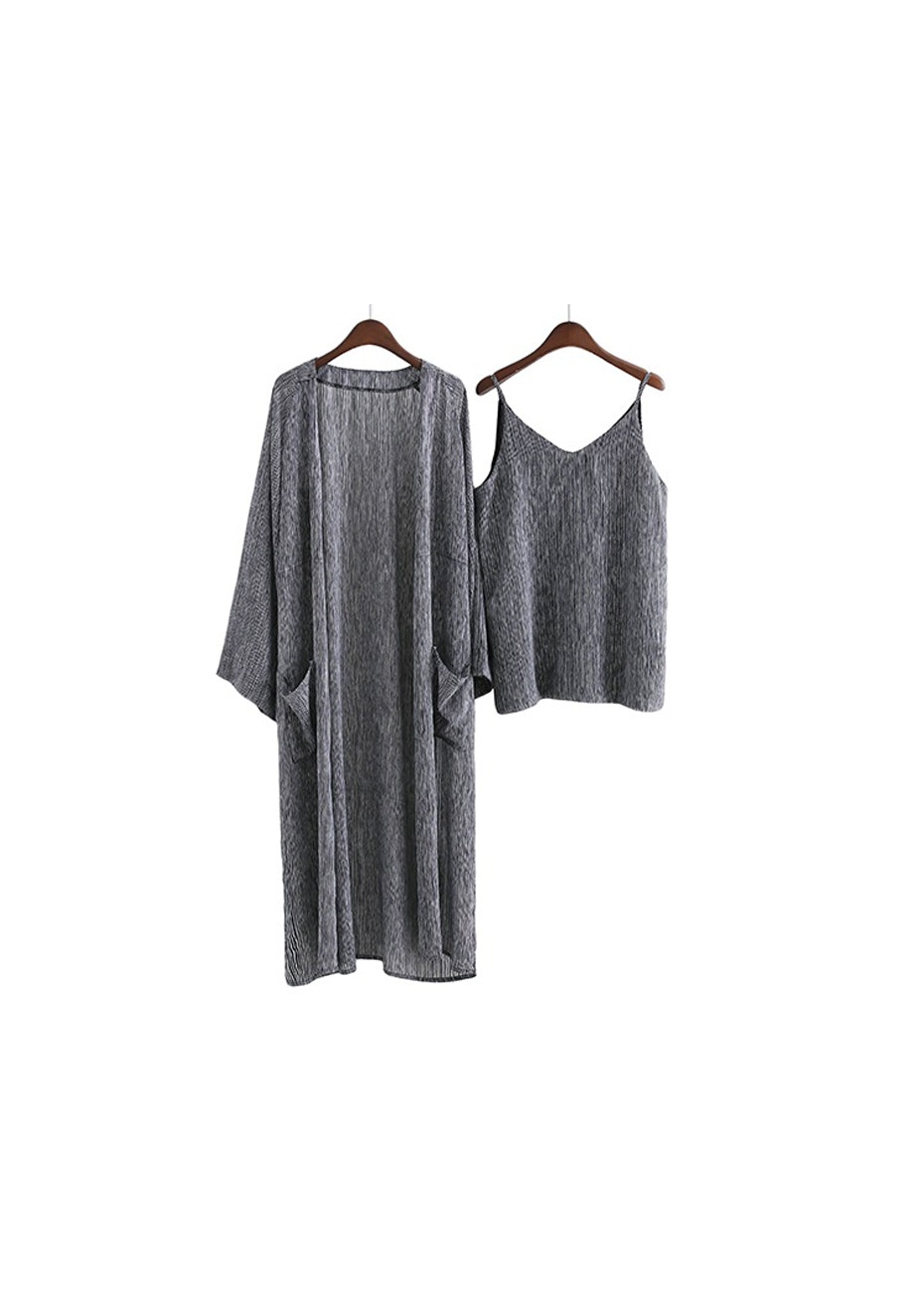 Phillip Cami + Kimono 2 Piece Set  - Peper /Salt