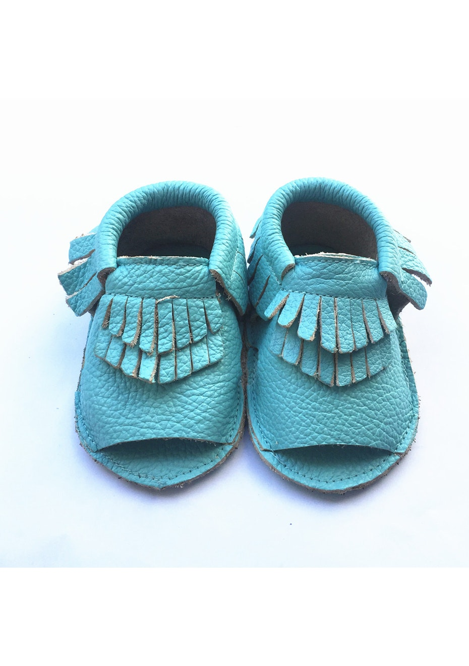 Baby  Leather Sandals - Sea Blue