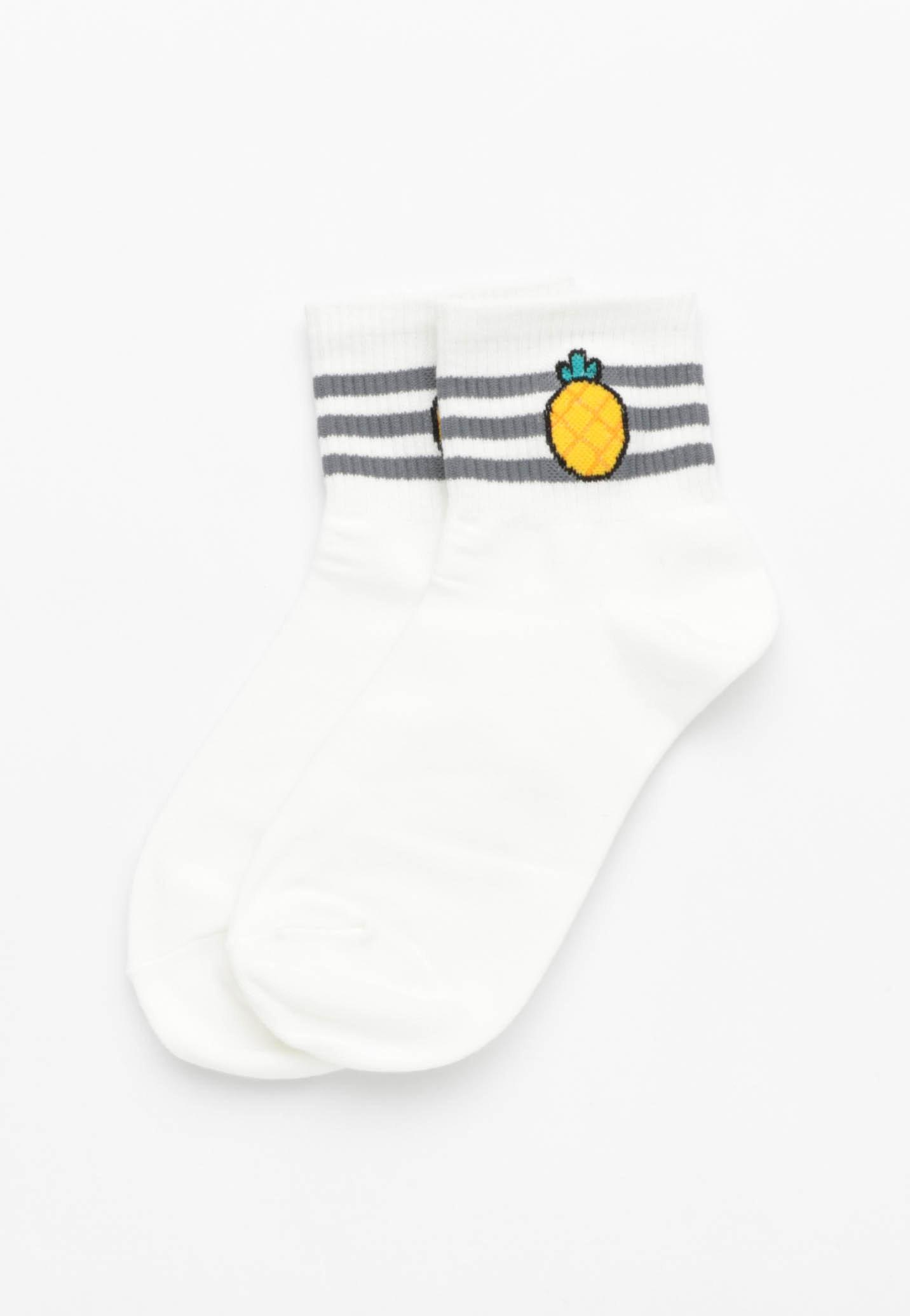 Pineapple Socks - White