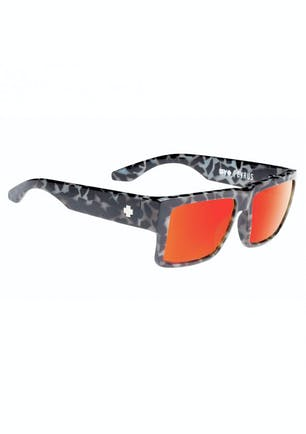 9dce20b512b41 SPY Sunglasses Cyrus - Spotted Tort - Happy Grey Green w Red Spectra