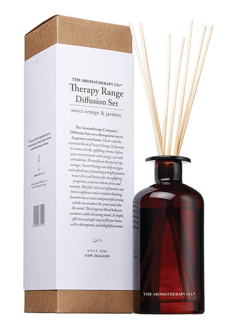 The Aromatherapy Co.  Therapy Diffusion set - Sweet Orange & Jasmine - 250ml