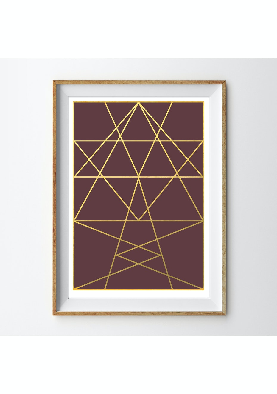 Simply Creative - Ruby - A3 Gold Foil Print