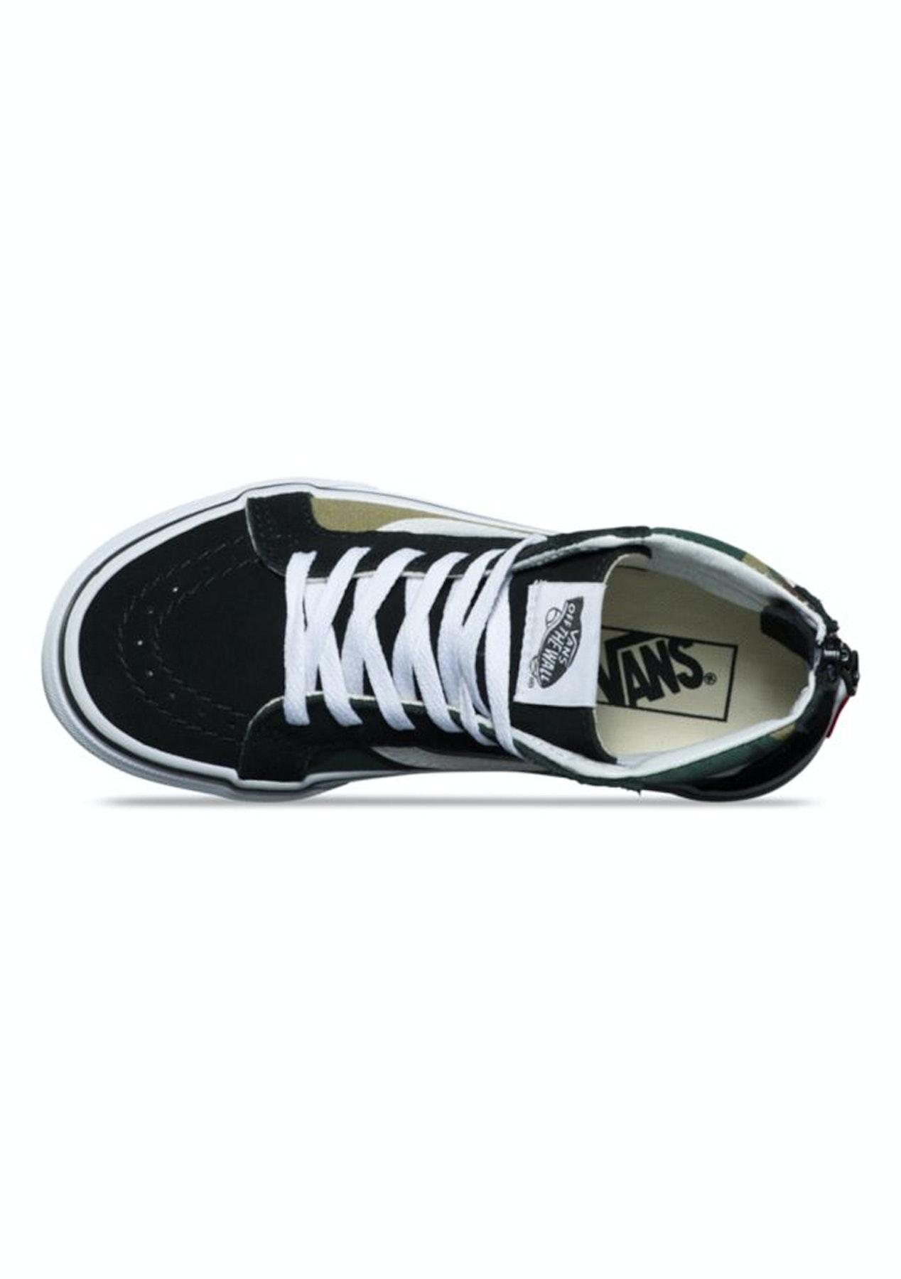 845003bbff35 Vans - Kids Sk8-Hi Zip (Woodland Camo) - Black - Vans - Onceit