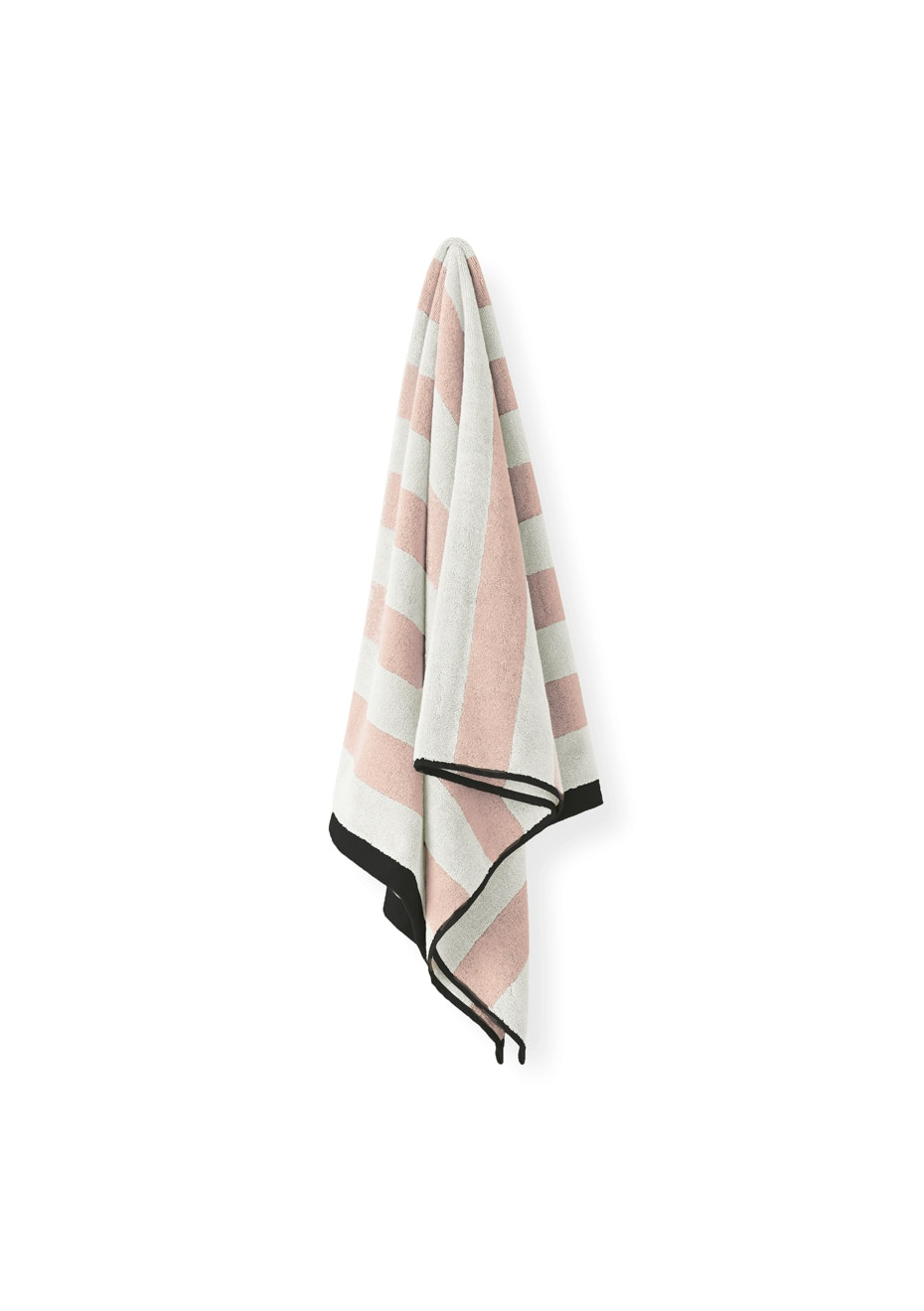 Aura Stripes Bath Towel 700 X 1400Mm Pink