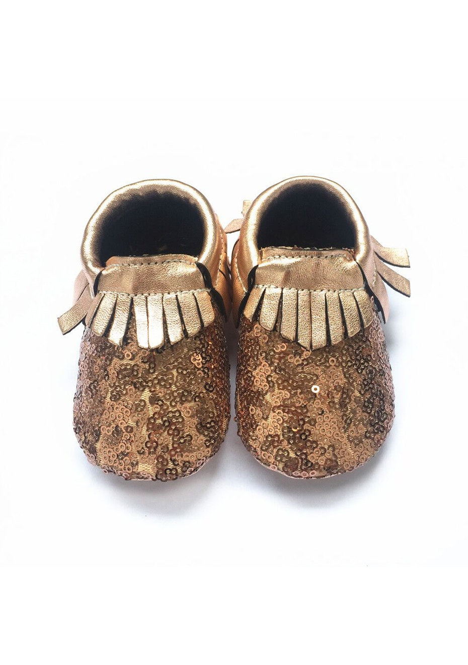 Baby  Leather Shoes - Rose Gold