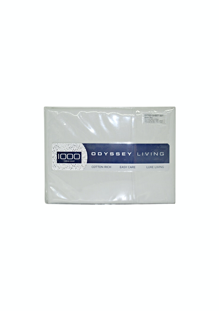 Odyssey Living 1000 Thread Count – Cotton Rich Sheet Sets -Silver - King Bed