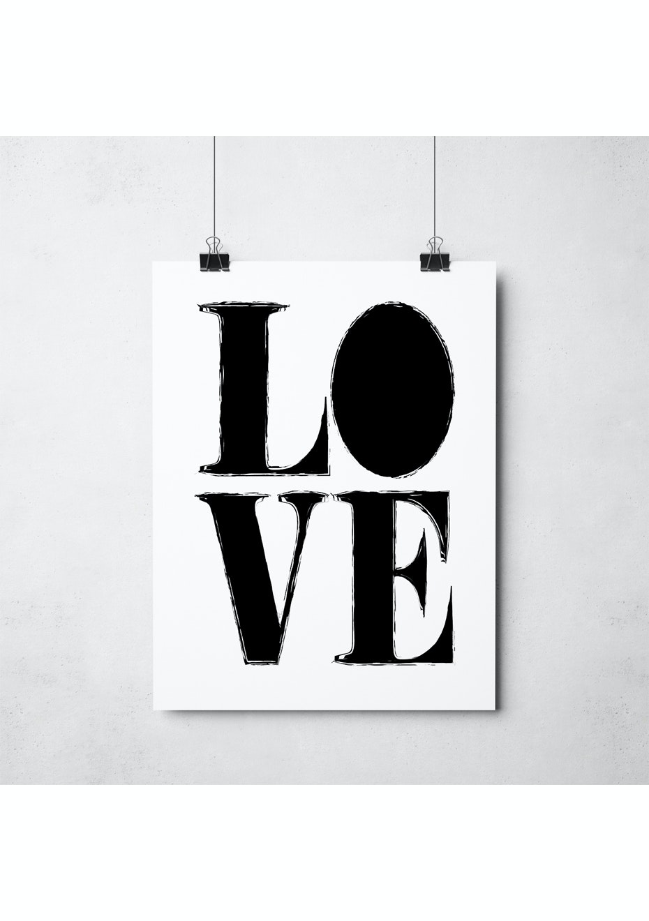 Simply Creative - Love - A3 Monochrome Print