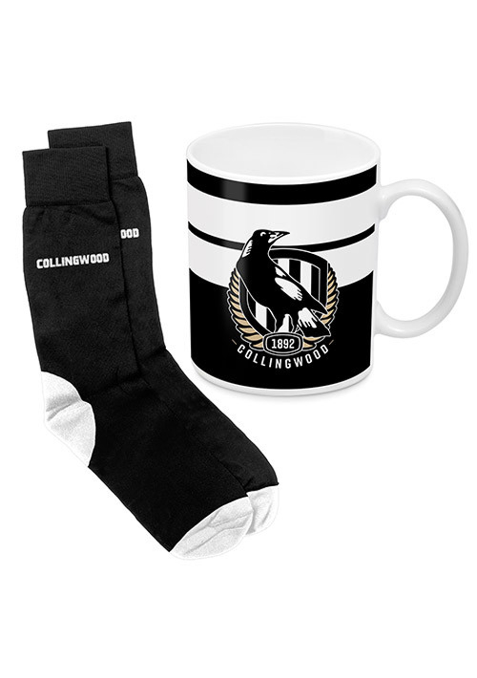 Mug Collingwood And Coffee Gift Pack Magpies Afl Sock FJclTK1
