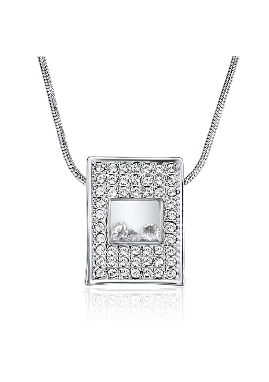 Pave & Display Case Pendant Necklace Embellished with Crystals from Swarovski