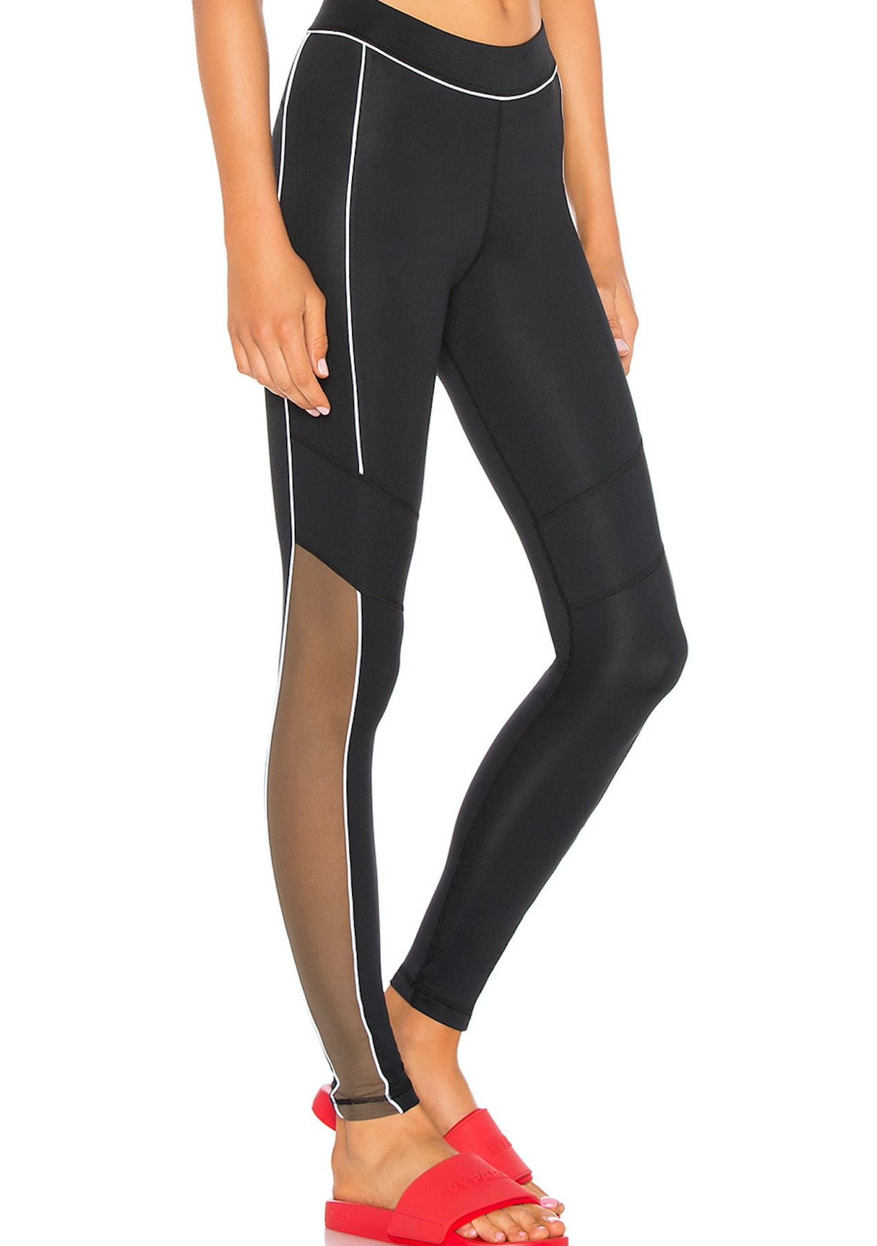 e494e8f5778df3 Ivy Park - Sheer Flocked Active Logo Legging - Black - Kappa & More - Onceit