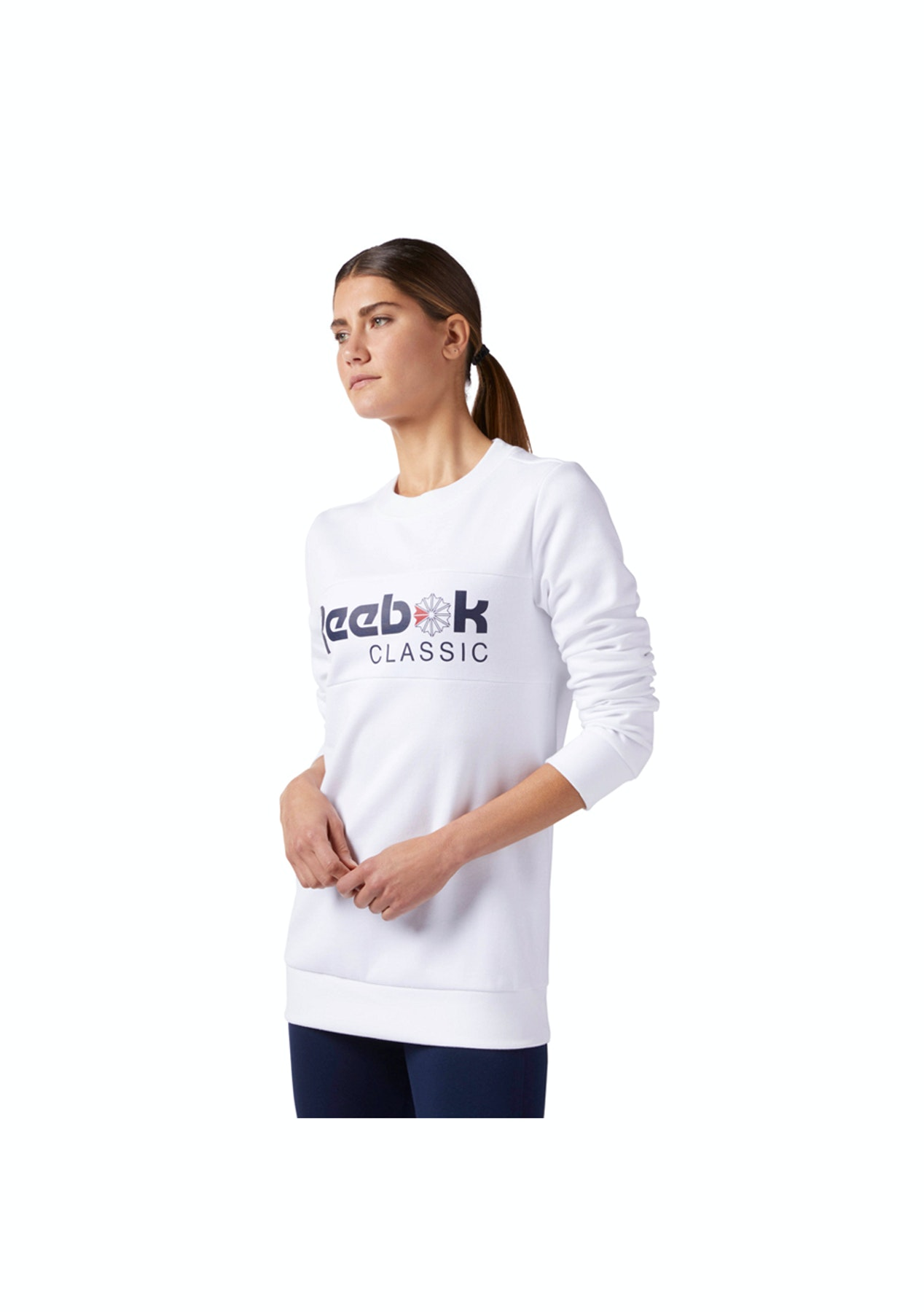 4218d1d0d91f Reebok Womens - F Iconic Crew - White - Reebok - Onceit