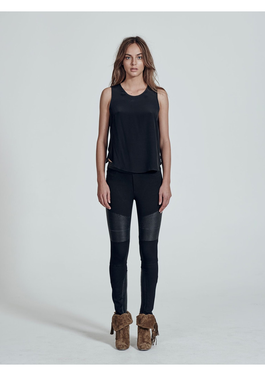 West 14th - Broadway Legging - Mix Material - Black