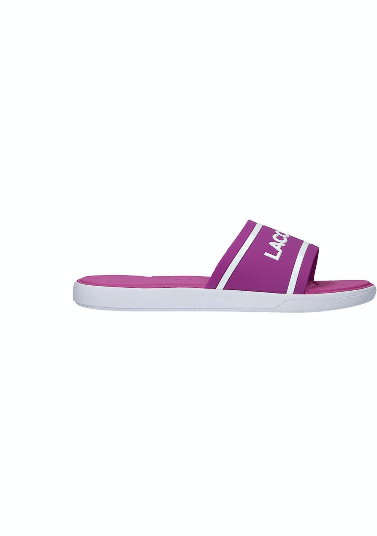 cd2c6ebac44e Lacoste - Womens L.30 Slide - Pink White - Big Brand Shoe Clearance - Onceit