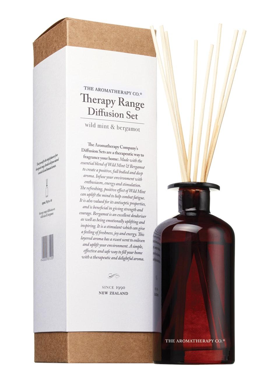 The Aromatherapy Co.  Therapy Diffusion set - Wild Mint & Bergamot