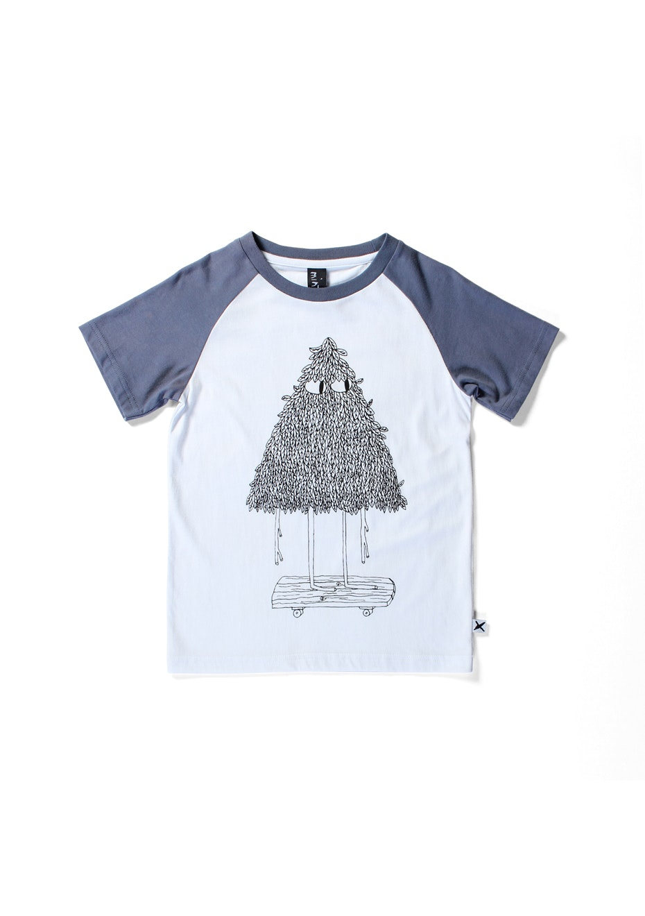 Minti - Skate Tree - Raglan T - Boys - White/Midnight