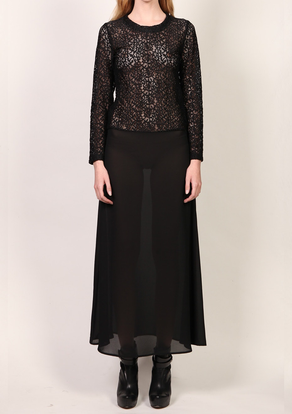 X-Plain - Long sleeve Lace Dress - Black