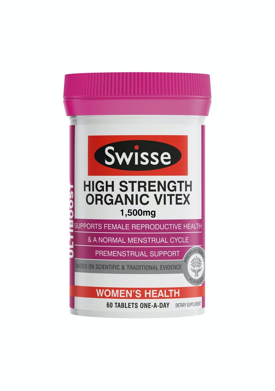 Swisse Ultiboost High Strength Organic Vitex Agnus 1500Mg 60 Tabs