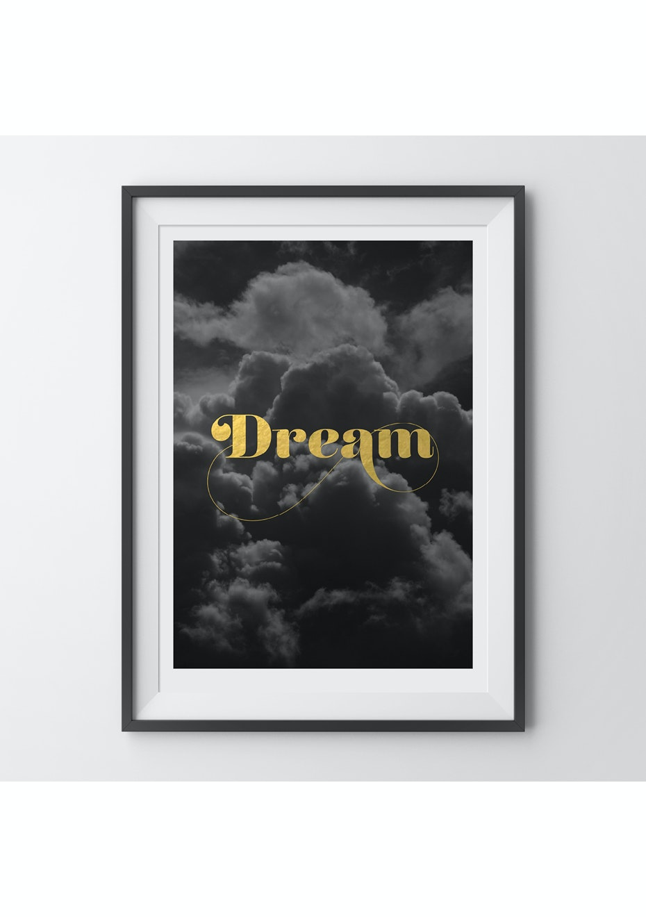 Simply Creative - Dream - A4 Gold Foil Print
