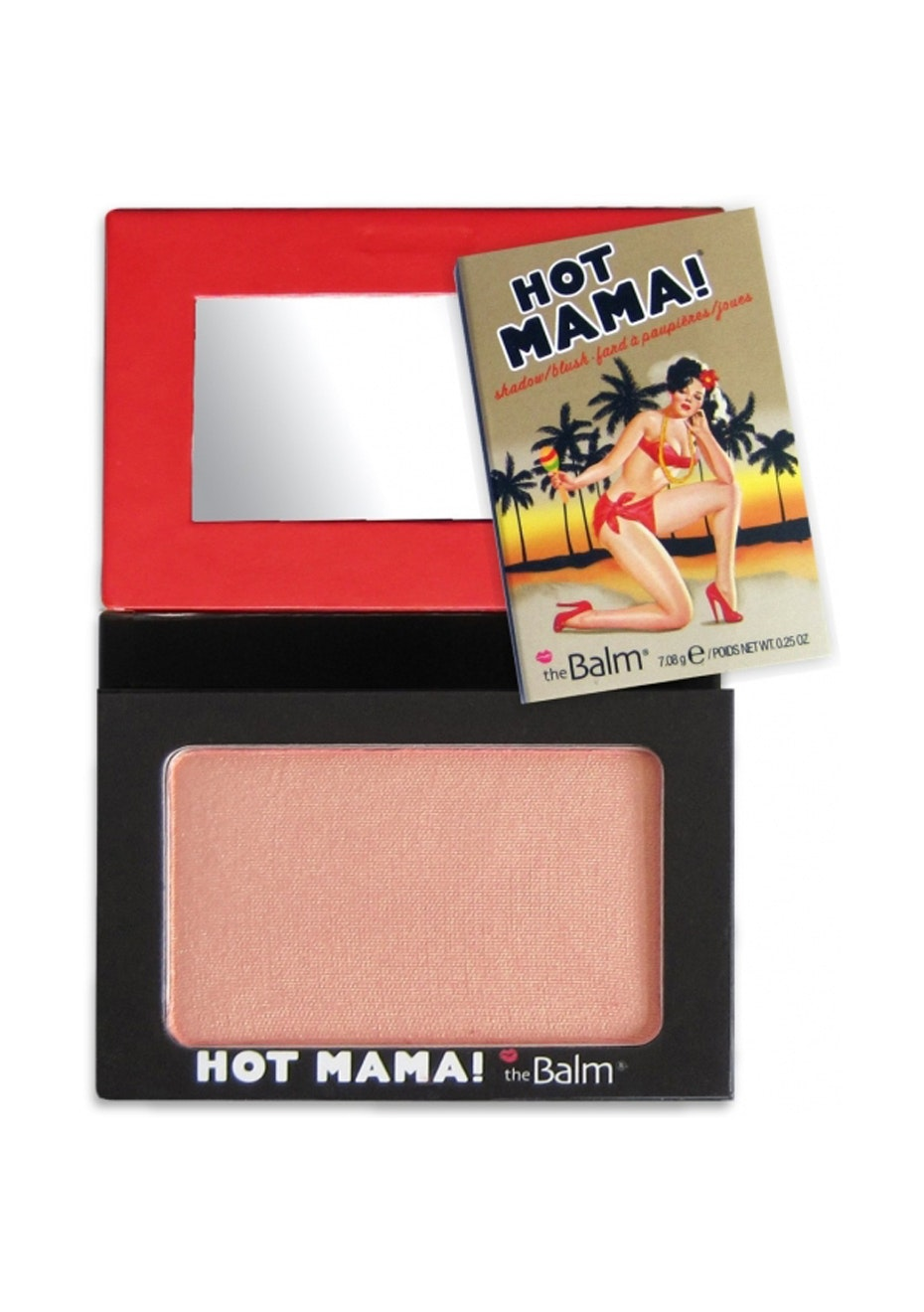 theBalm Hot Mama Shadow Blush Beautiful Peachy Pink