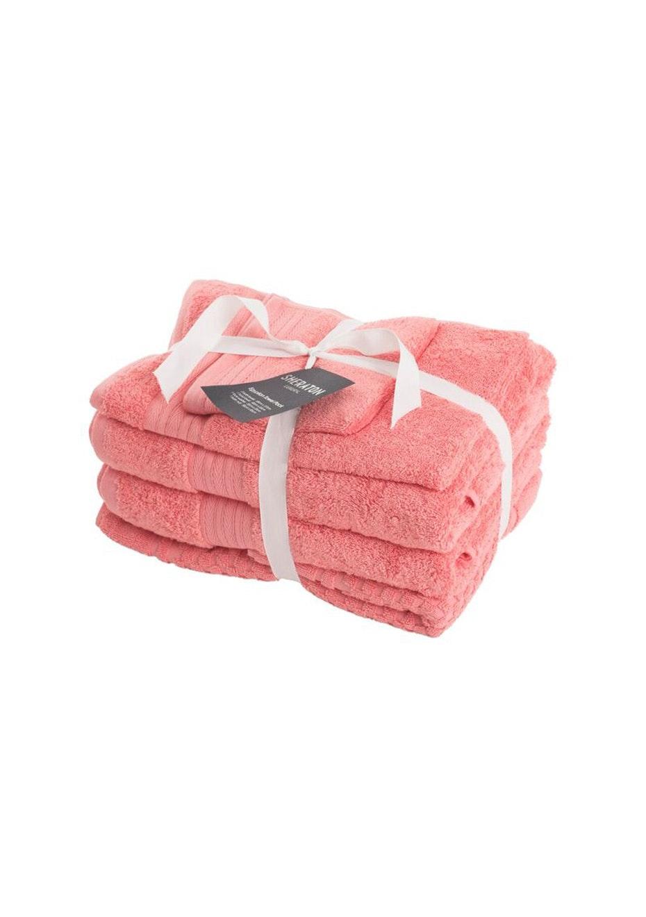 Sheraton Egptian 5 Piece Towel Pack - Colour Coral