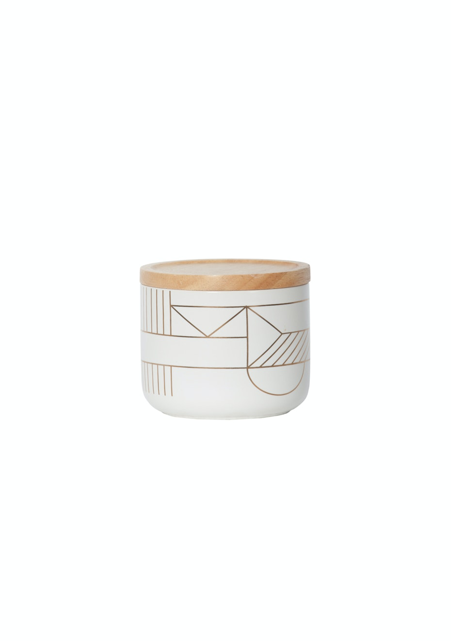 General Eclectic - Small Canister Gold Deco
