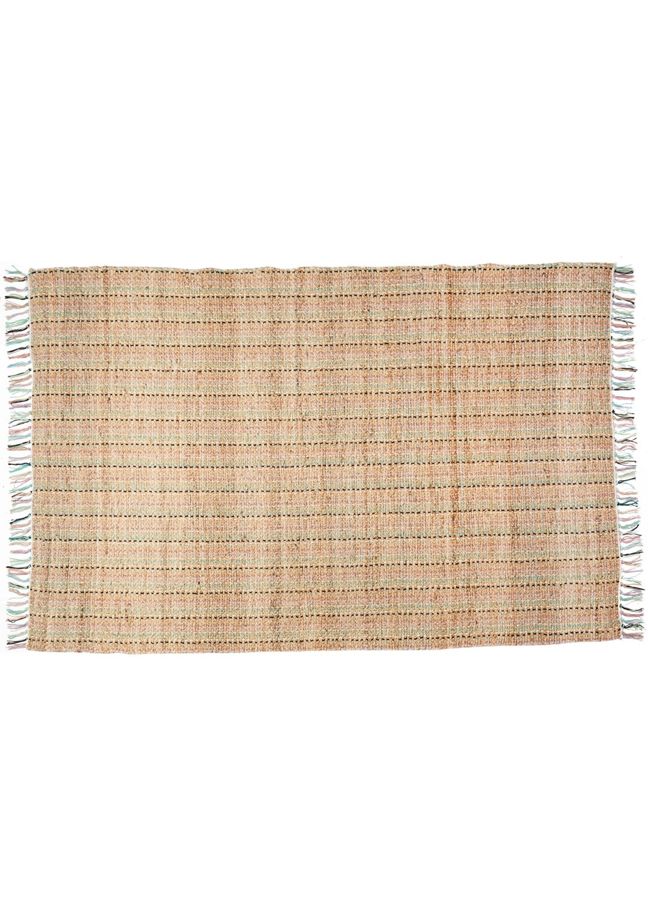 General Eclectic - Hemp Pastel Braided Rug - Small