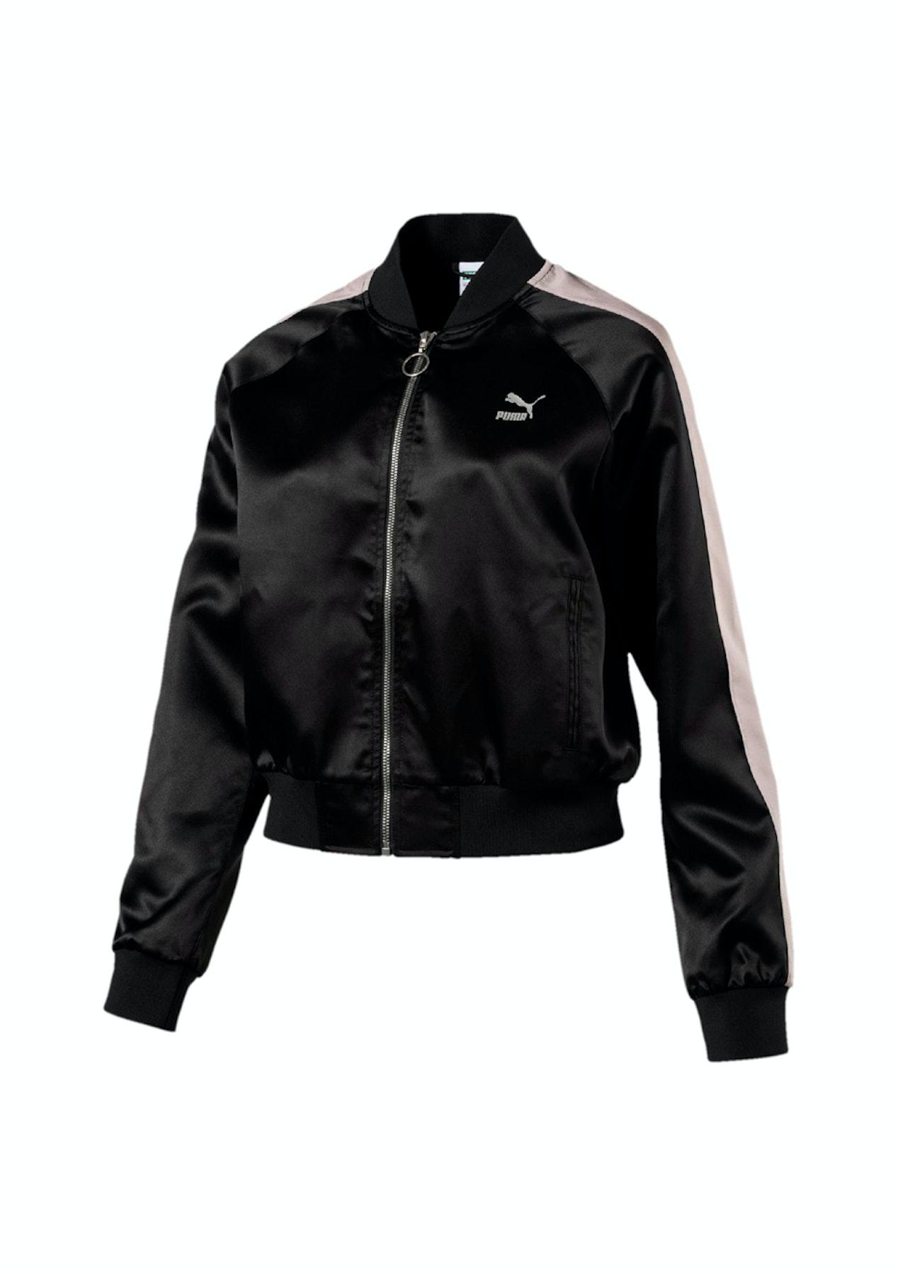 79128a6dacfa Puma Womens - En Pointe Satin T7 Jacket - Black - Under  50 Onceit s gone  it s gone - Onceit