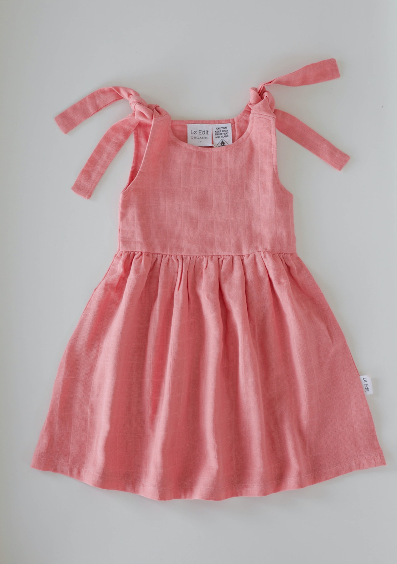 8bc89e8ac9c Le Edit - Simple Seashell Summer Dress - Seashell Pink - Le Edit Baby At  Least 40% off - Onceit