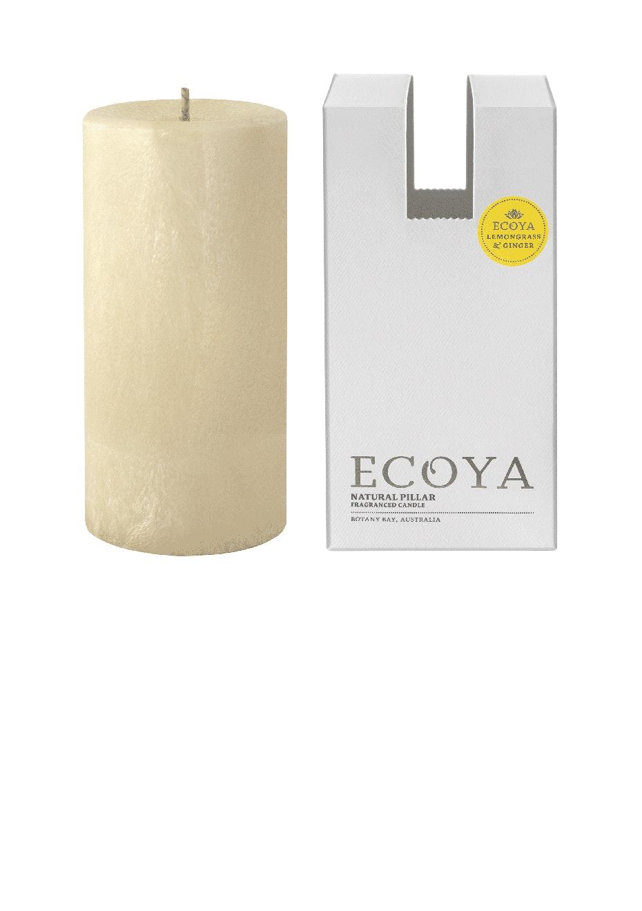 Ecoya - Pillar 75x155 Natural -Lemongrass & Ginger
