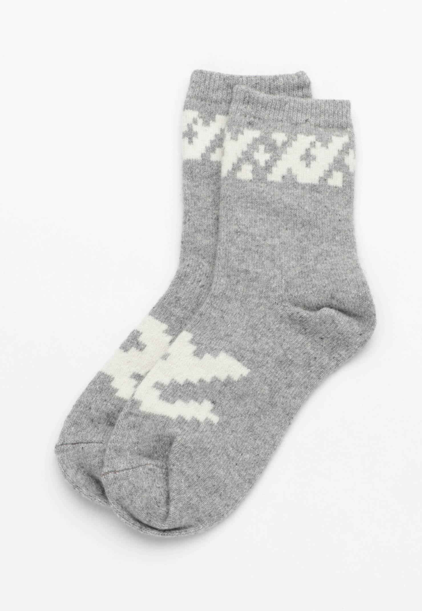 Print Socks - Grey Marle