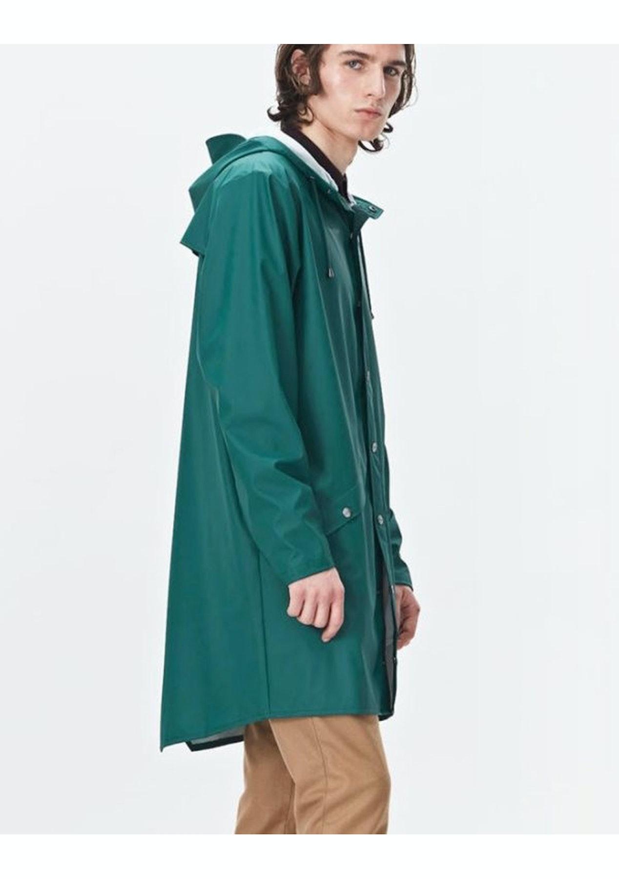 525a1bd3 Rains - Long Jacket (unisex) - Dark Teal - Rains Outlet - Onceit