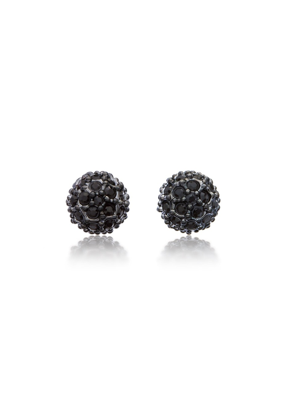 Encrusted Pave Stud Earrings Embellished with Crystals from Swarovski