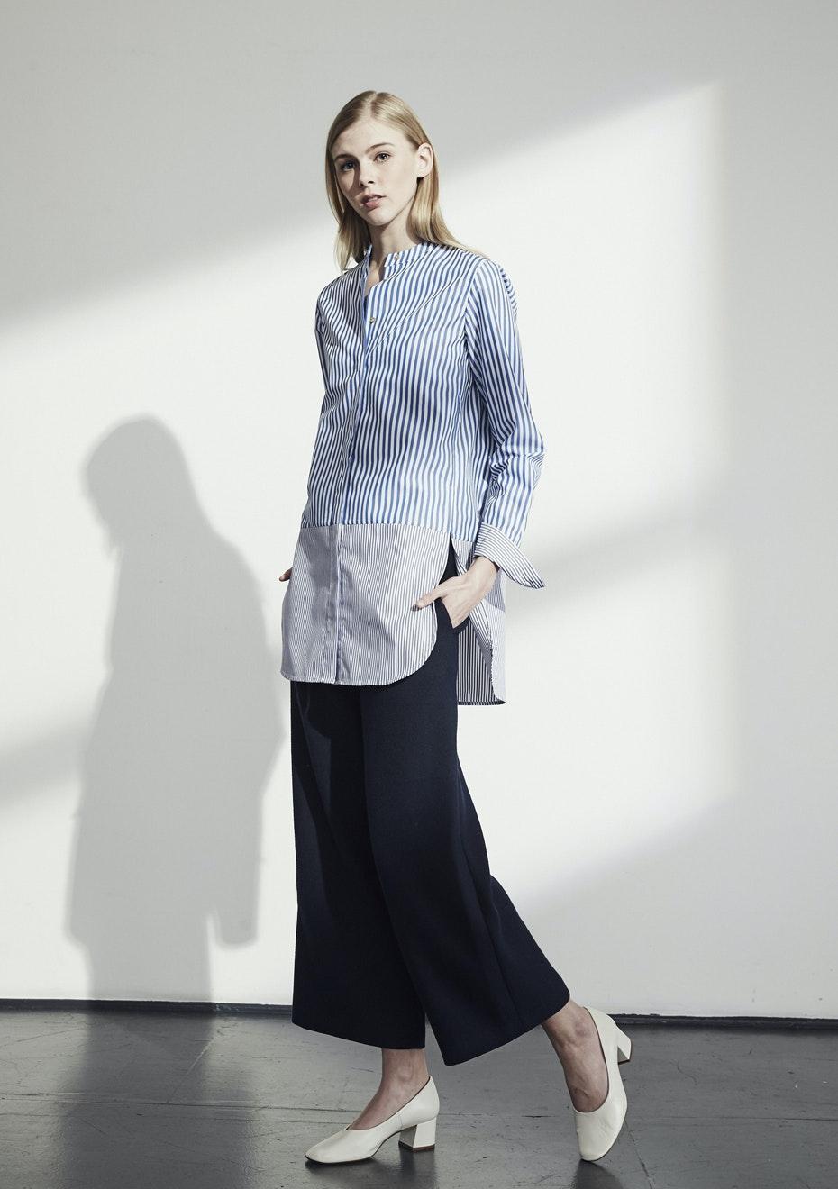 Achro - Striped Block Shirts - Blue
