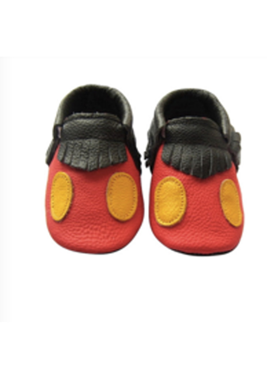 Baby  Leather Shoes - Red/Yellow/Black