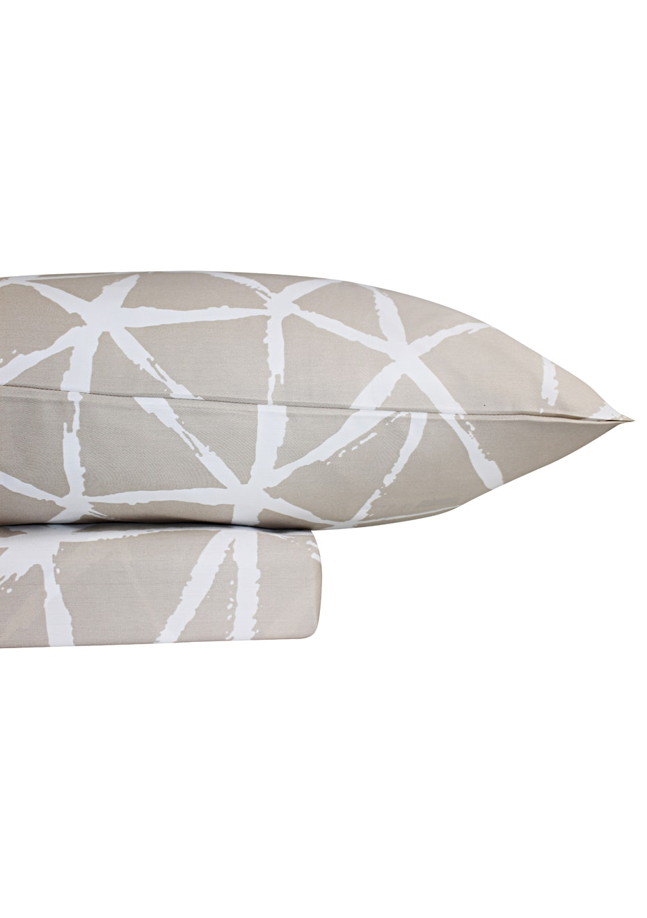 1000 Thread Count – Kyoto Print Sheet Sets - Linen - Queen Bed