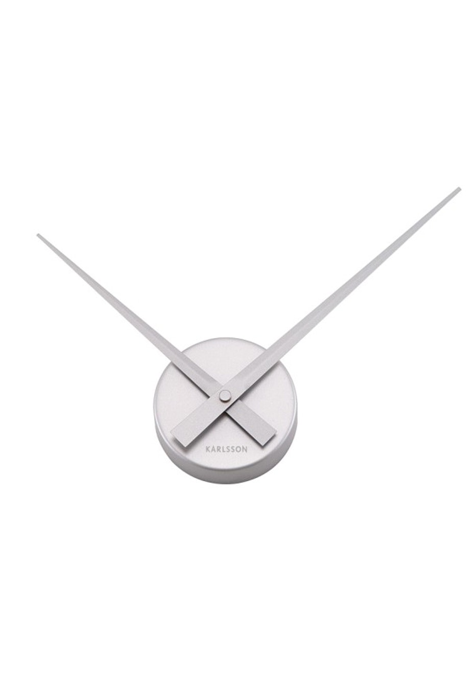 Karlsson - Wall Clock 'Little Big Time' Mini - Silver