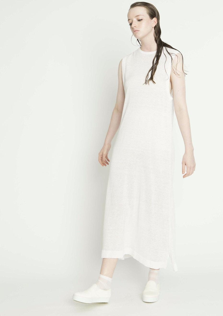Salasai - RELAX TANK DRESS - WHITE