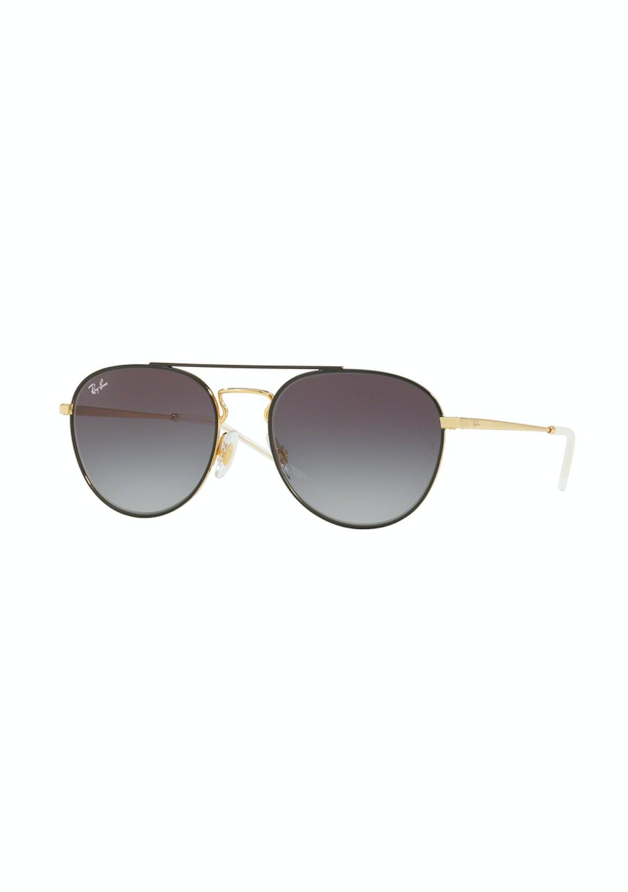 e9d5298d6943 Ray-Ban Highstreet Black Gold/Grey Sunglasses - Designer Eyewear Price Drop  - Onceit