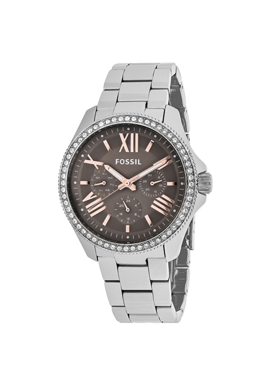 Fossil Women's Cecile - Brown/Silver
