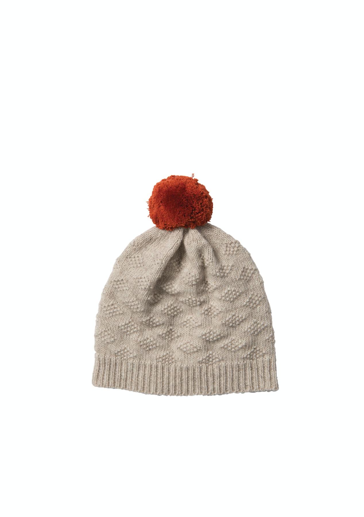 b2da20166 Citta - Pom Pom Wool Blend Beanie Nougat/Carmine OS