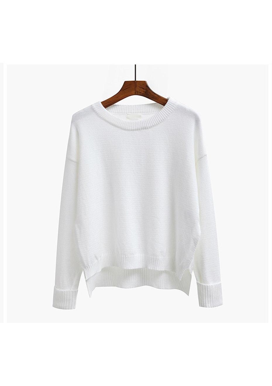 Mimi  Light Weight Sweater - White