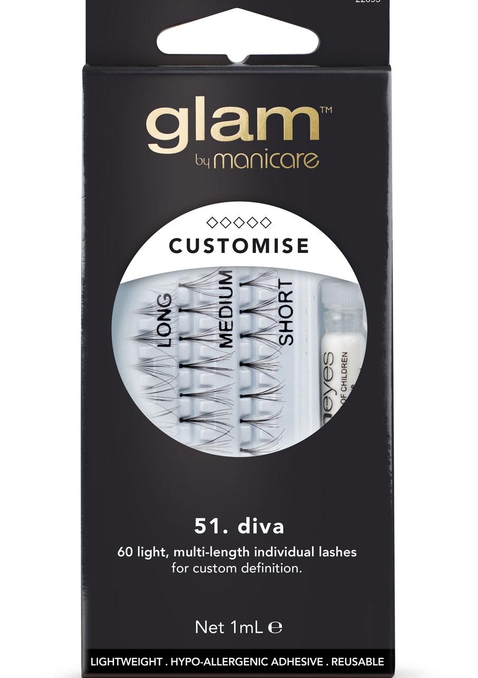 Manicare Glam  - Diva Lashes