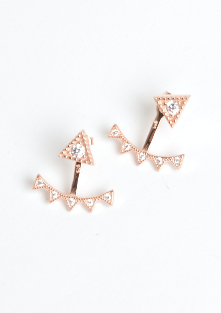 Spike Ear Jacket - Rose Gold  Plated