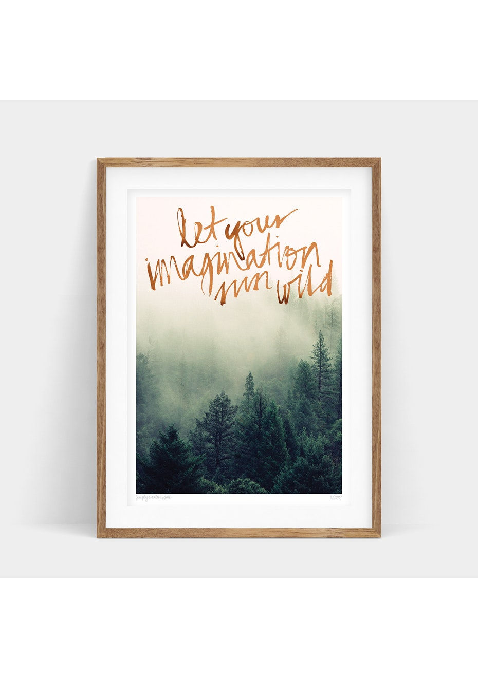 Simply Creative - Pure Imagination - A3 Copper Foil Limited Edition  Print