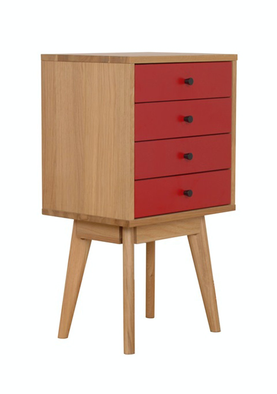 Furniture By Design - Radius 4 Tower- Red and Oak