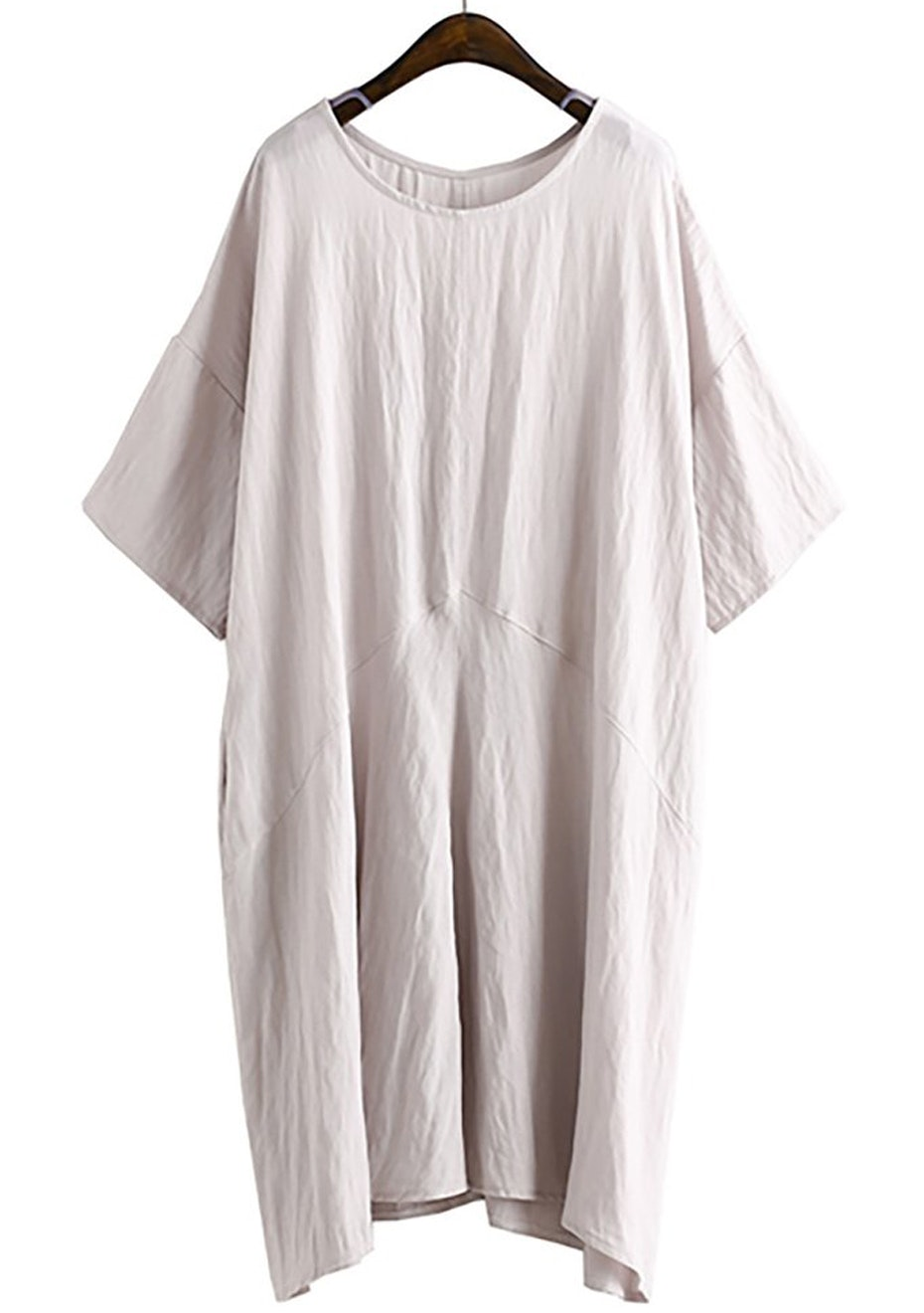 Sage Over-Sized Dress  - Blush Grey