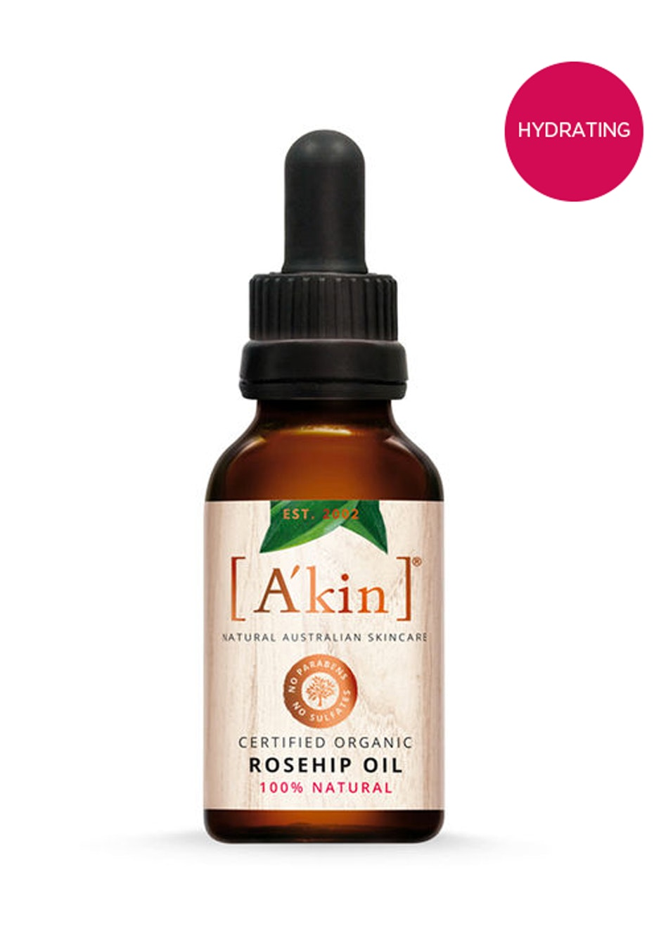 A'kin  - Certified Organic Rosehip Oil 20ml
