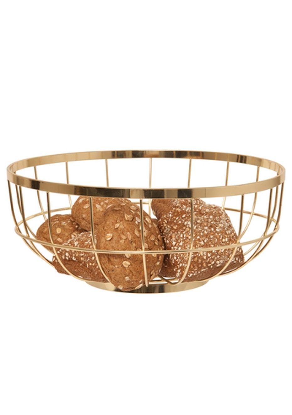 Pt Home - Fruit Bowl Open Grid - Gold