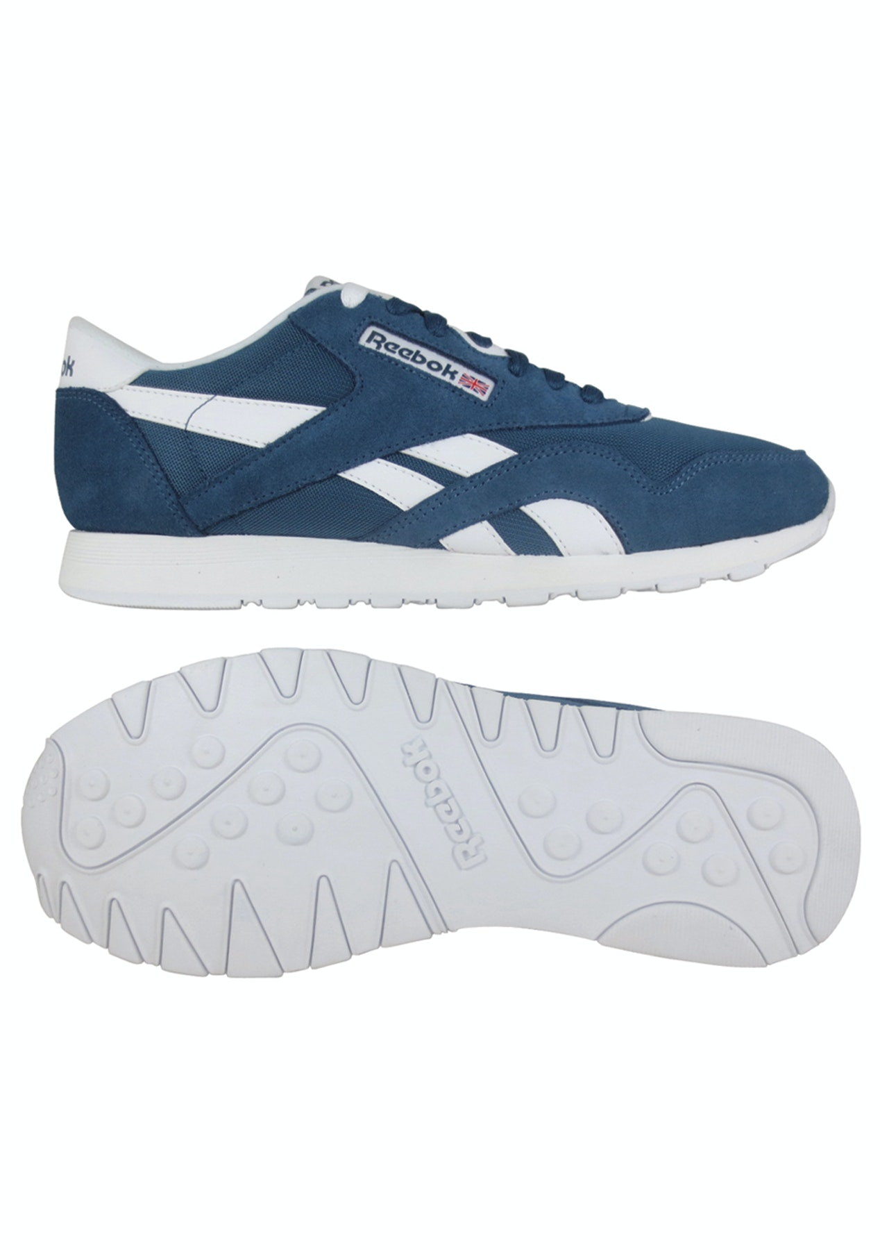 11fa713241b3c Reebok Mens - Classic Nylon Brave Blue White - Boxing Day Reebok   Puma -  Onceit